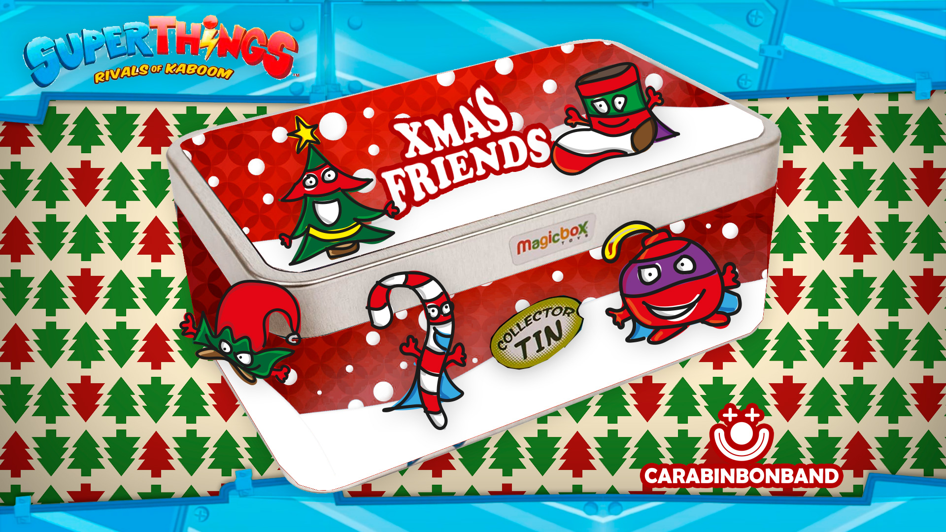 SUPERZINGS XMAS FRIENDS - INVENTED TIN OF CHRISTMAS SUPERTHINGS