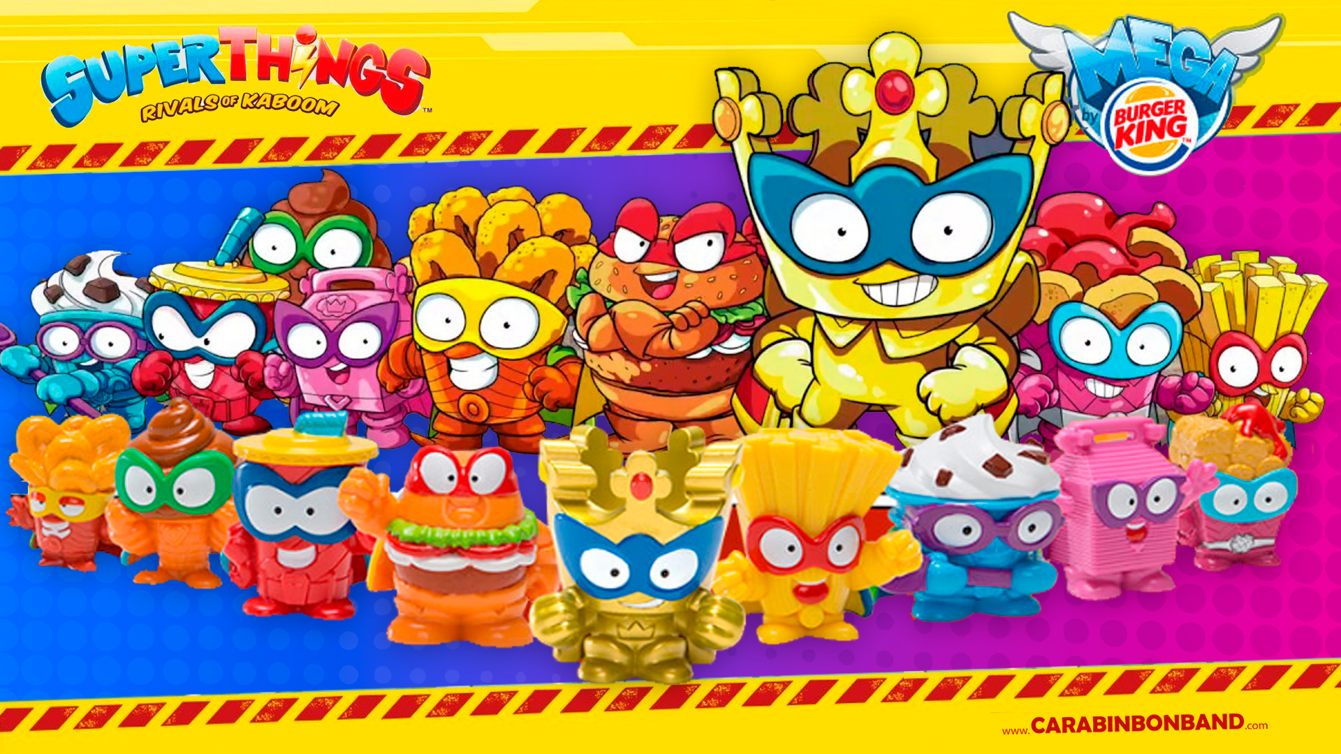 BURGERKING Big SUPERZINGS  Series 1 MEGA - Giant SUPERTHINGS