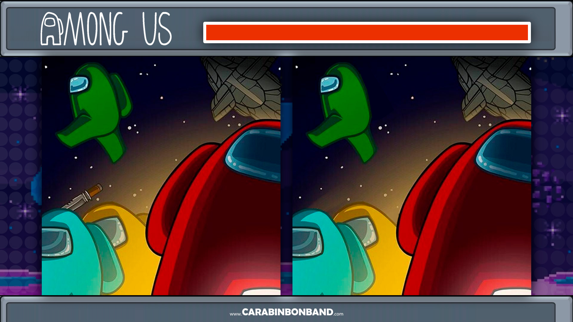 AMONG US - FIND THE 3 DIFFERENCES - HARD LEVEL
