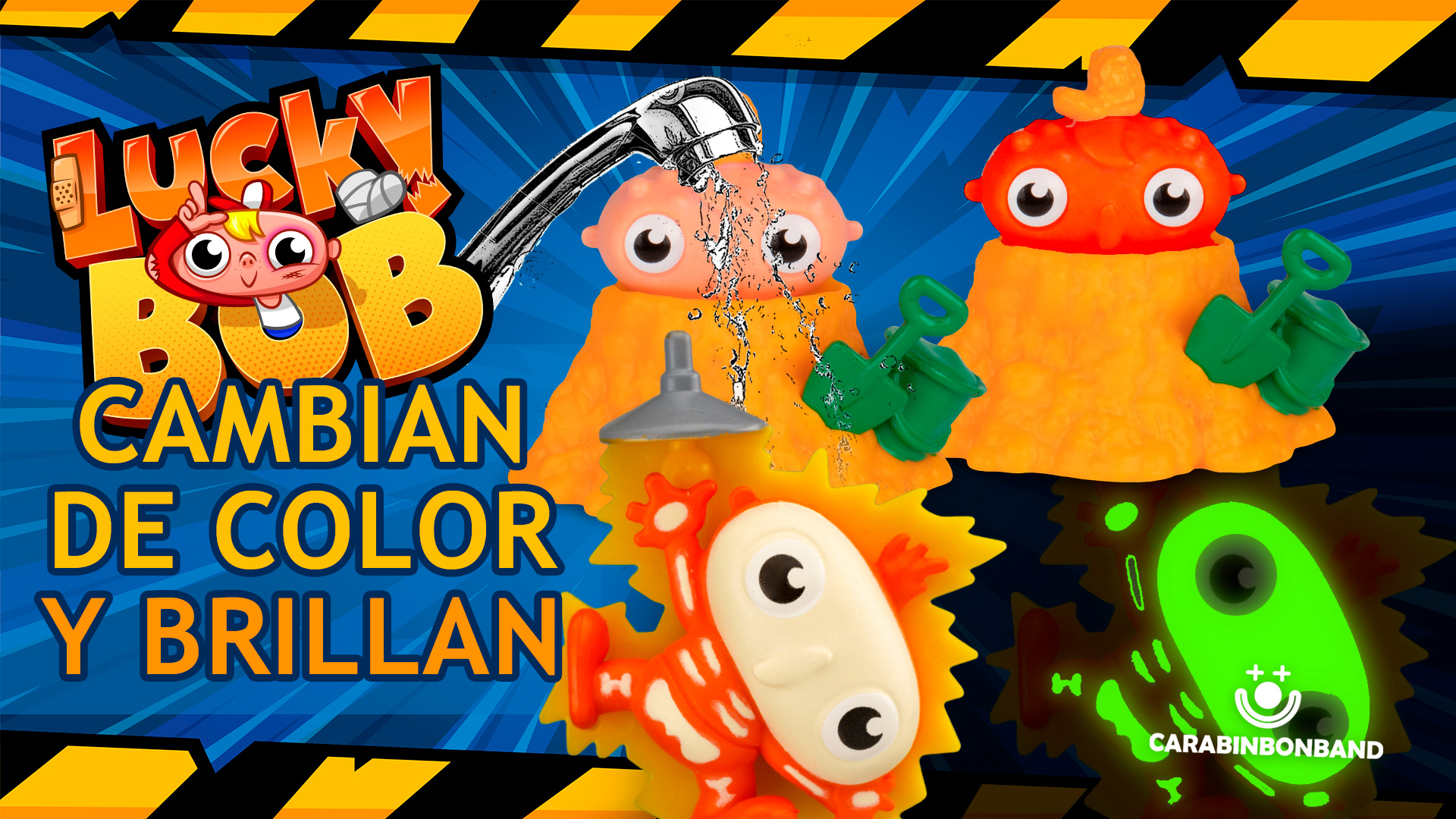 LUCKY BOB SERIES 1 SPECIAL FINISH - FIGURES THAT SHINE AND CHANGE COLOR