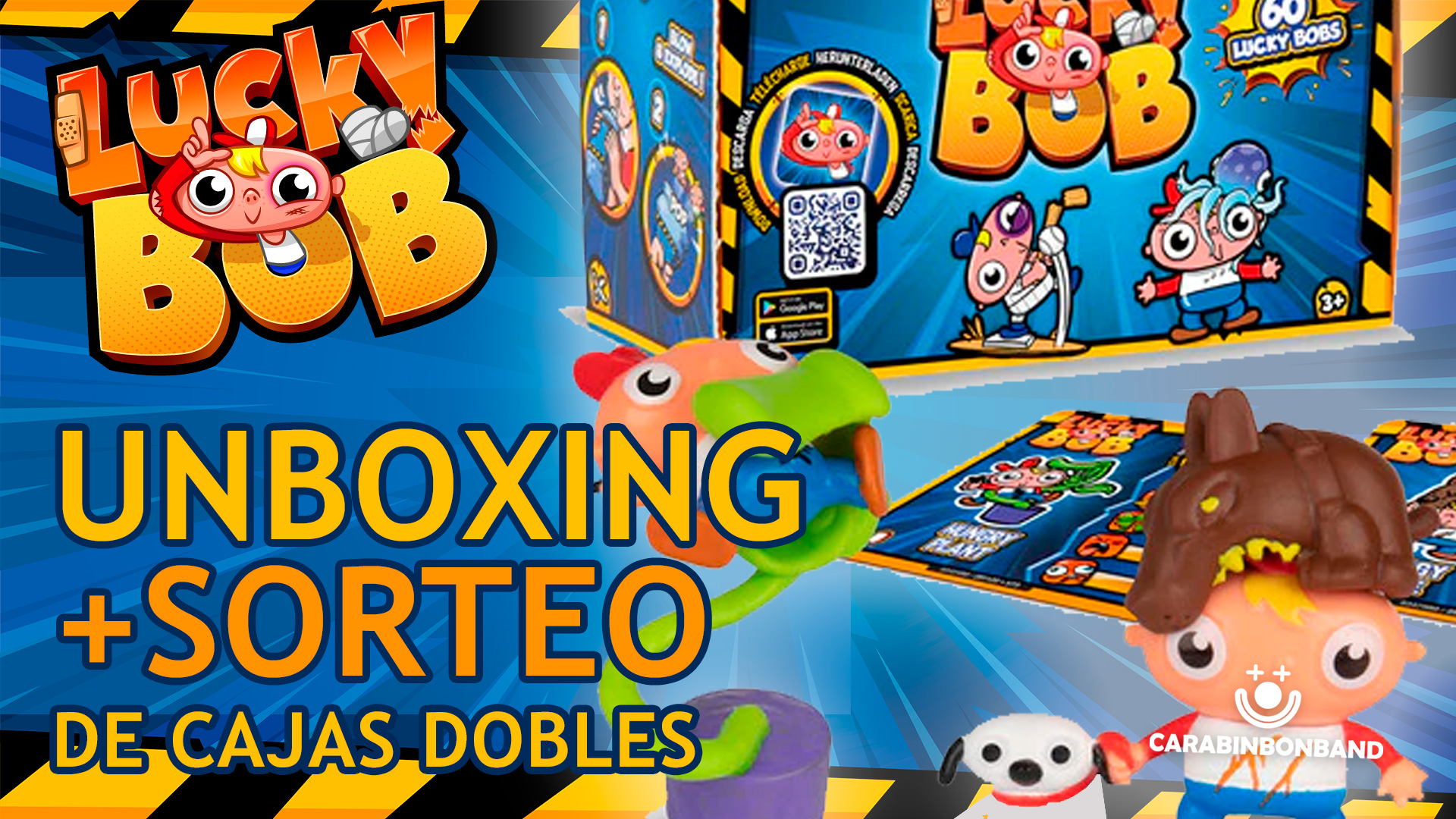 LUCKY BOB UNBOXING AND SWEEPSTAKES - PACK OF DOUBLE BOXES SERIES 1