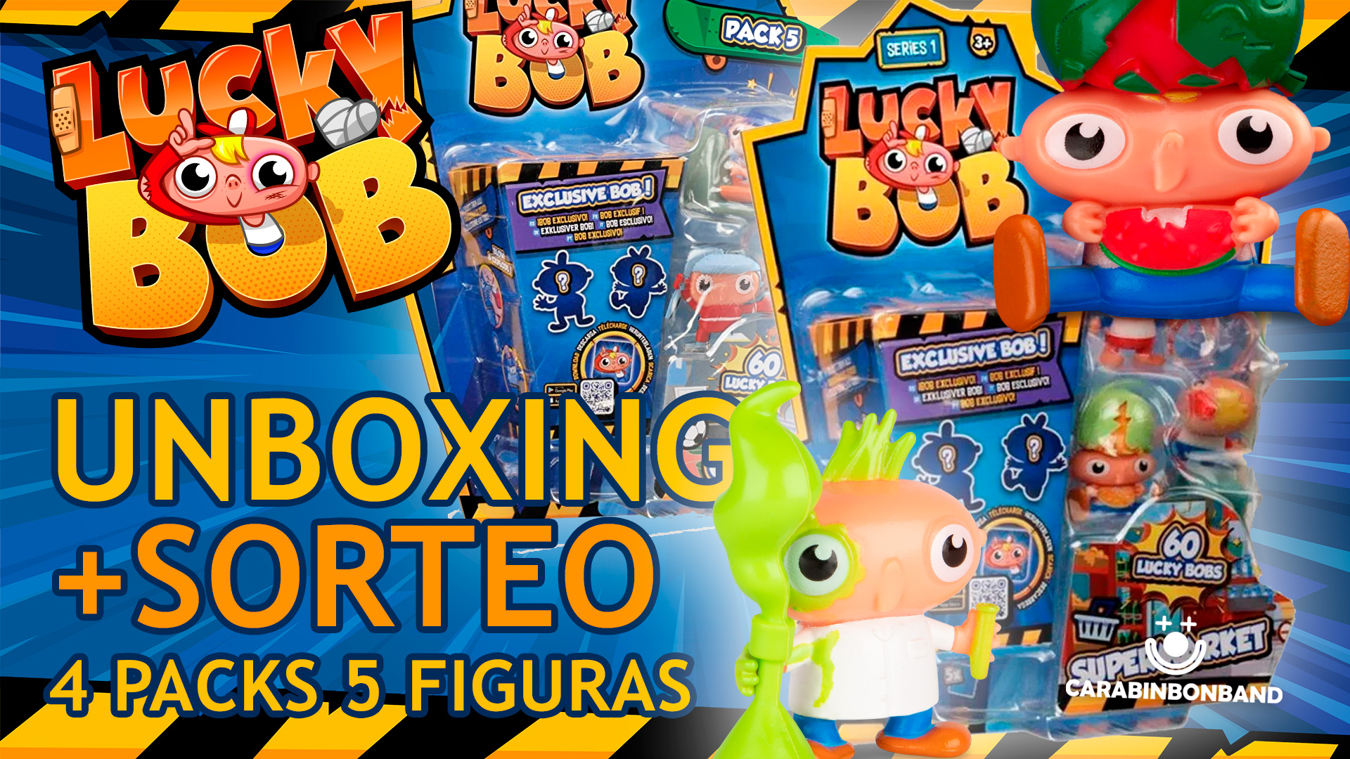 LUCKY BOB - UNBOXING PACKS 5 FIGURES SERIES 1