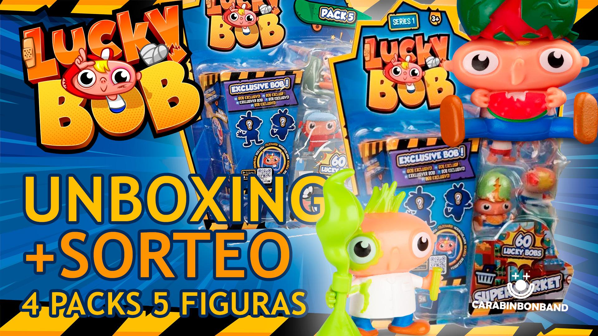 LUCKY BOB - UNBOXING Y SORTEO PACKS 5 FIGURAS SERIES 1