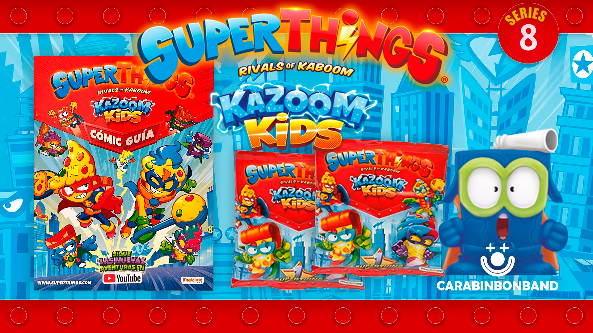 SUPERZINGS SERIES 8 COMIC GUIA - SUPERTHINGS KAZOOM KIDS - By CARA BIN BON BAND