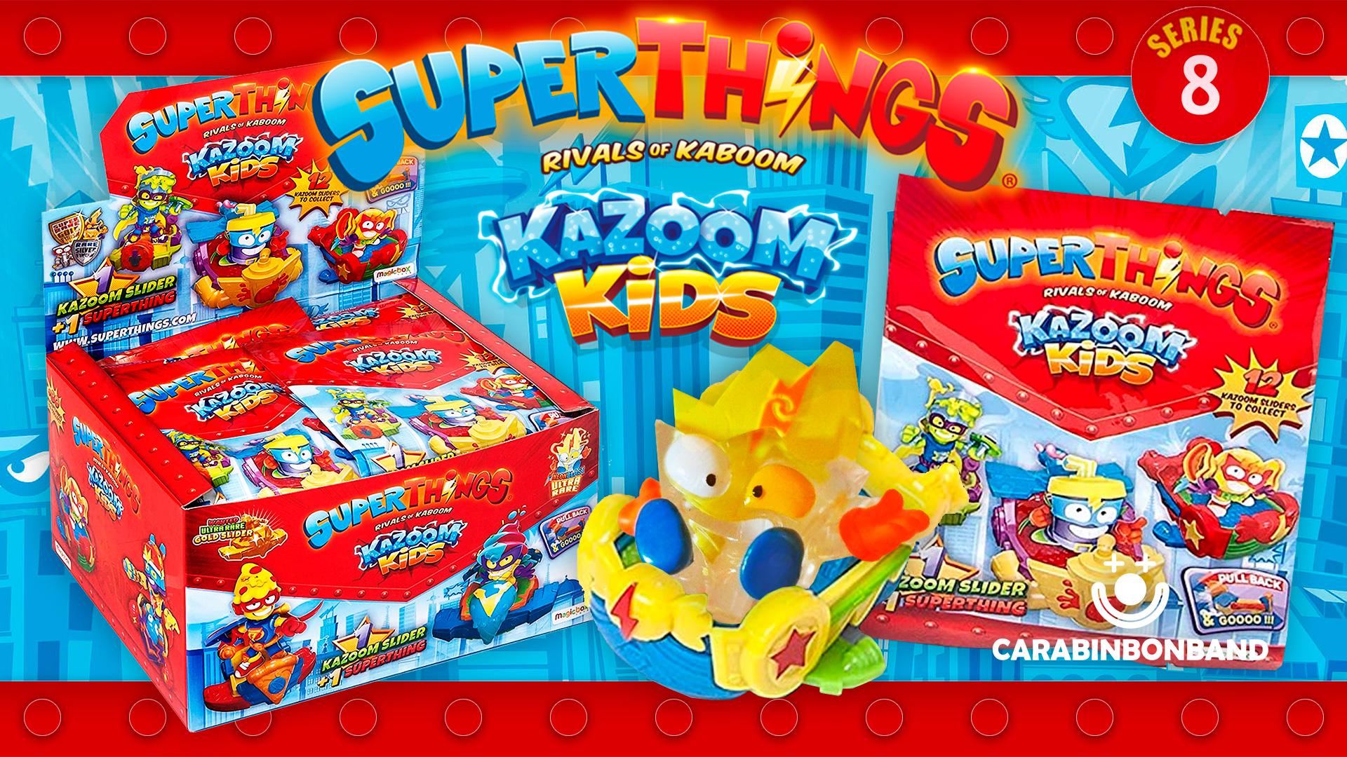SUPERTHINGS 8 - UNBOXING COMPLETE BOX OF SLIDERS - SUPERZINGS KAZOOM KIDS