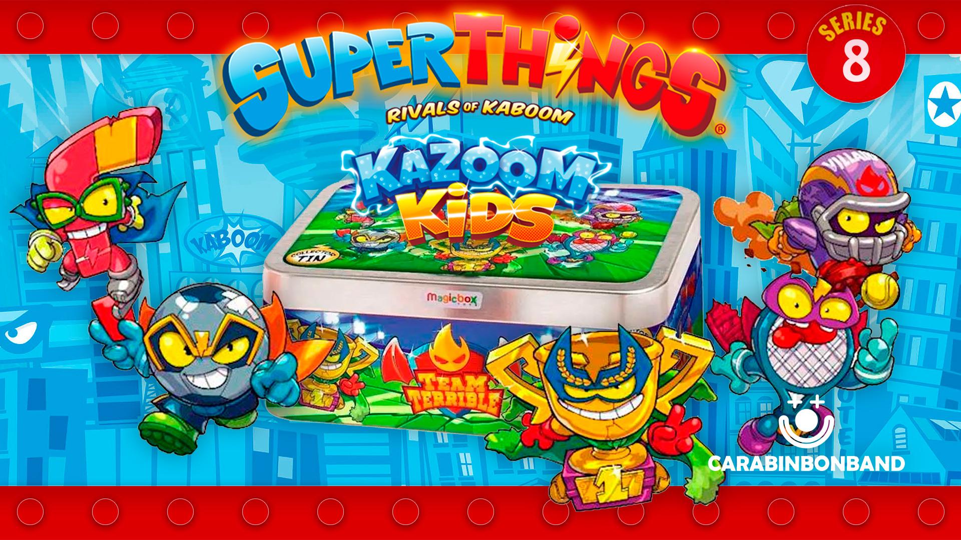 UNBOXING SUPERTHINGS 8 - TEAM TERRIBLE TIN - SUPERZINGS KAZOOM KIDS