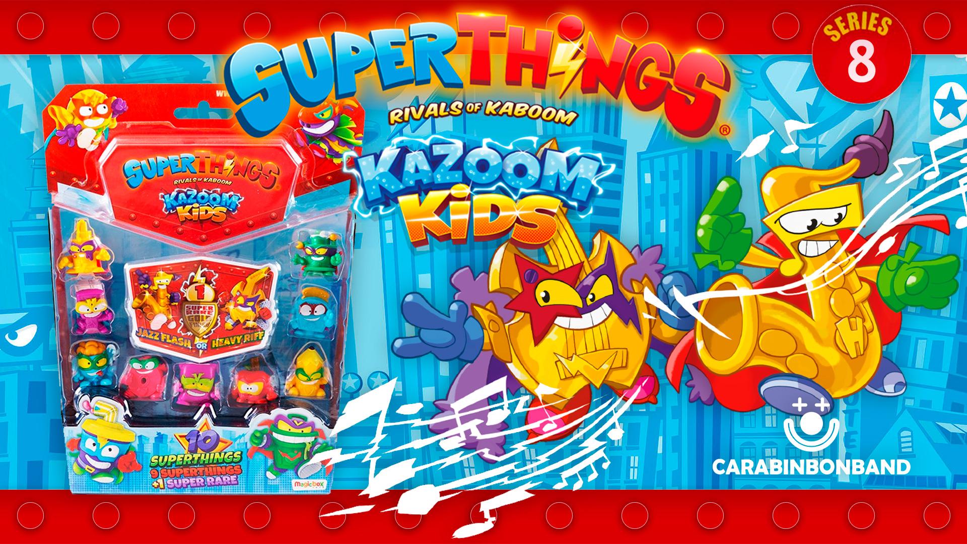 SUPERTHINGS SEASON 8 - BLISTER 10 FIGURES SUPERZINGS KAZOOM KIDS AND GOLDEN