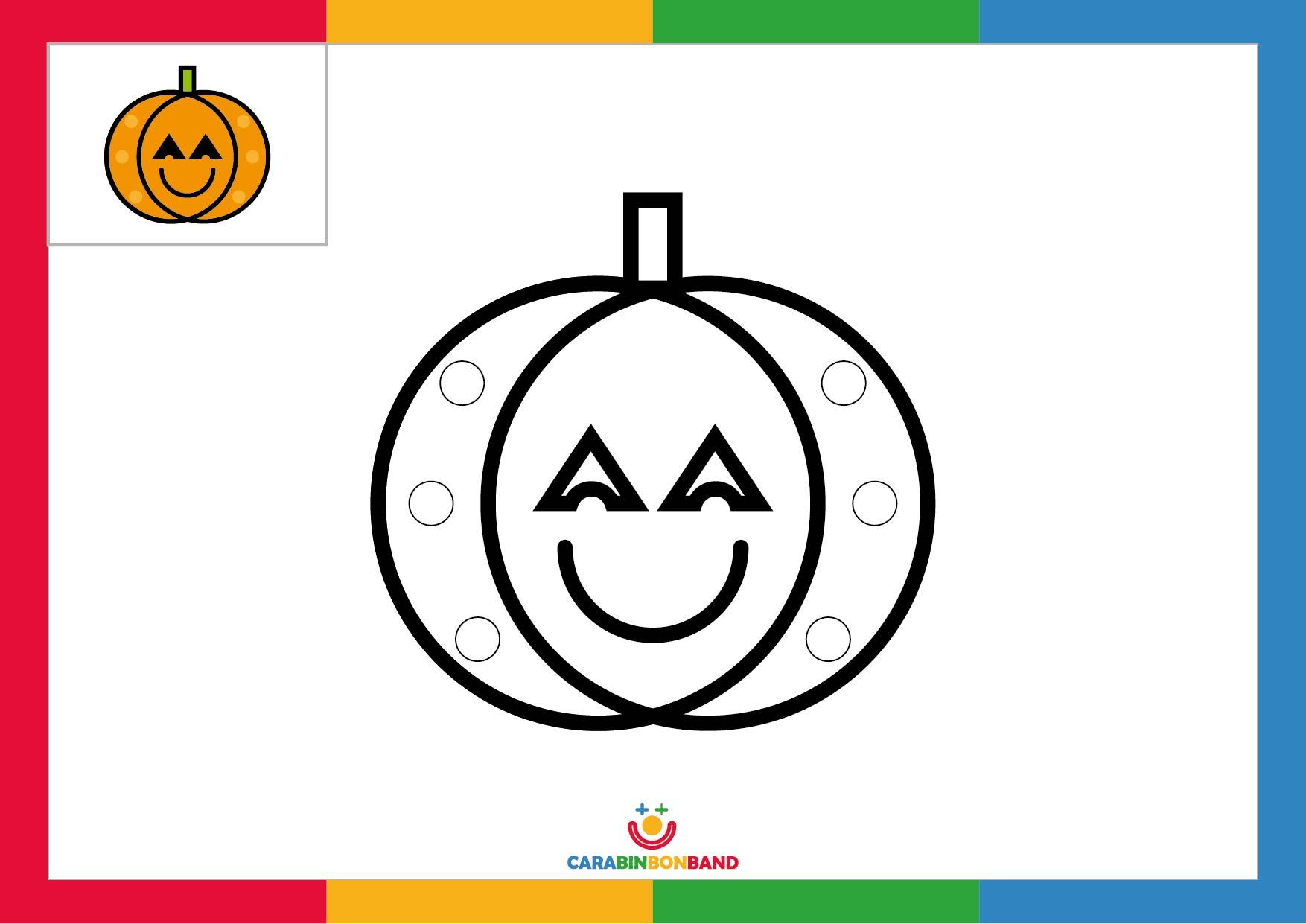 Fichas para colorear: calabaza de Halloween